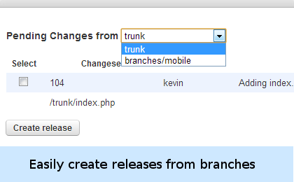 Easily create releases from branches